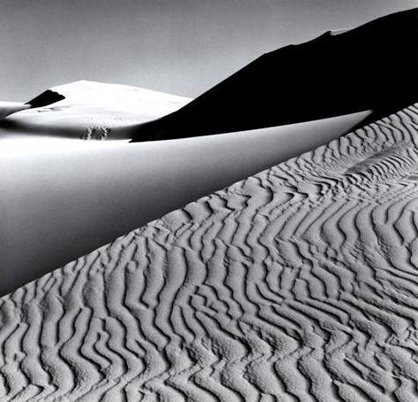 ansel adams photo of sand dune