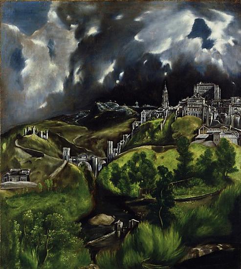 """El Greco """"Vista de Toledo"""" The Met (New York)"""