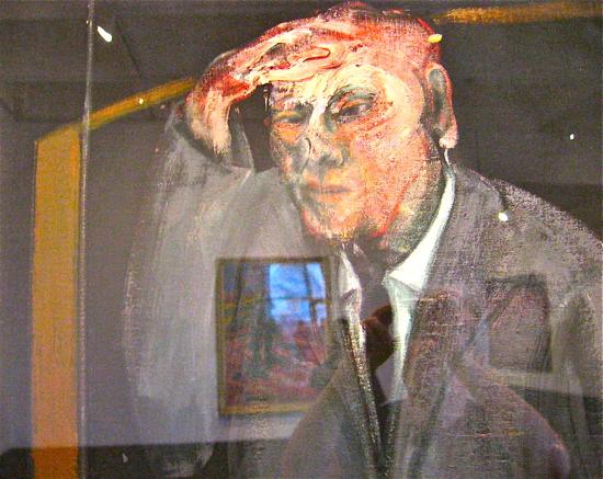 Retrato de autorretrato con reflejo. Francis Bacon (1958)