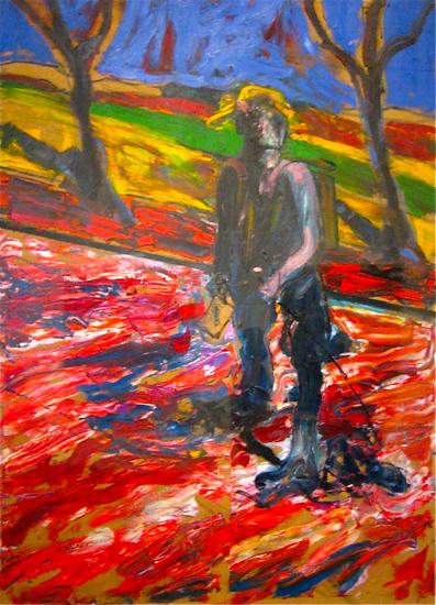 """Estudio para """"Retrato de Van Gogh"""" III. Francis Bacon (1957)"""