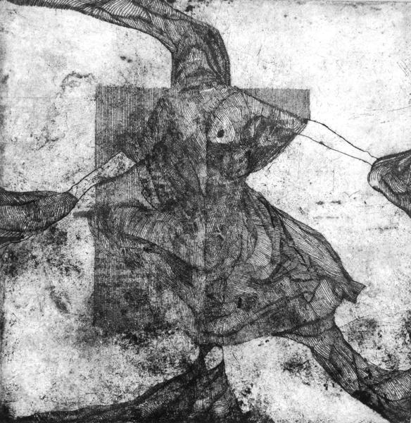 Luis Jimenez-Ridruejo, sin título (grabado, punta de acero y ácido)