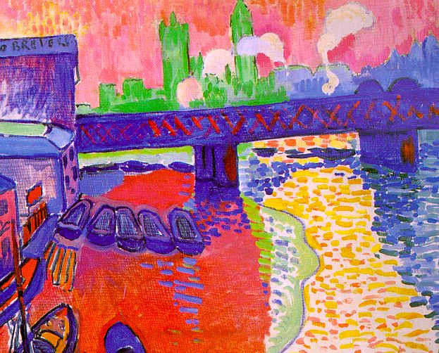 Andre Derain, Puente de Charing Cross, Londres, 1906, National Gallery of Art, Washington, D.C.
