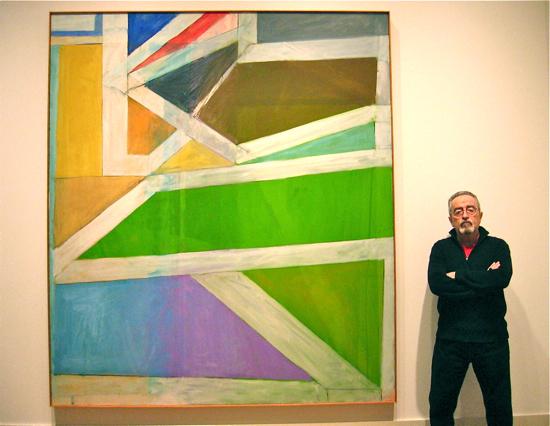 Luis Jimenez-Ridruejo con Ocean Park #22 en el Museo de Bellas Artes de Virginia, en Richmond. 2011.
