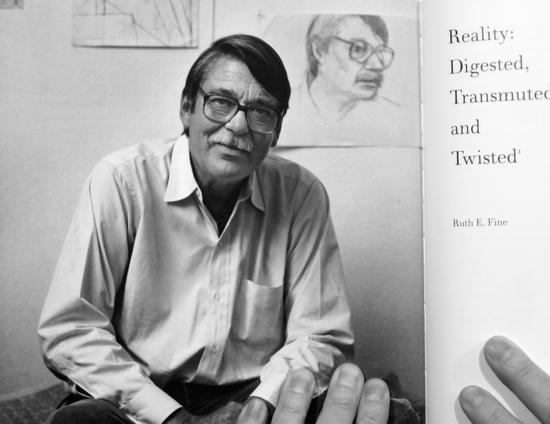 R. D., Retrato y Autorretrato (1986). De The Art of Richard Diebenkorn de Jane Livingston, University of California Press, 1997. Foto de Luis Jimenez-Ridruejo