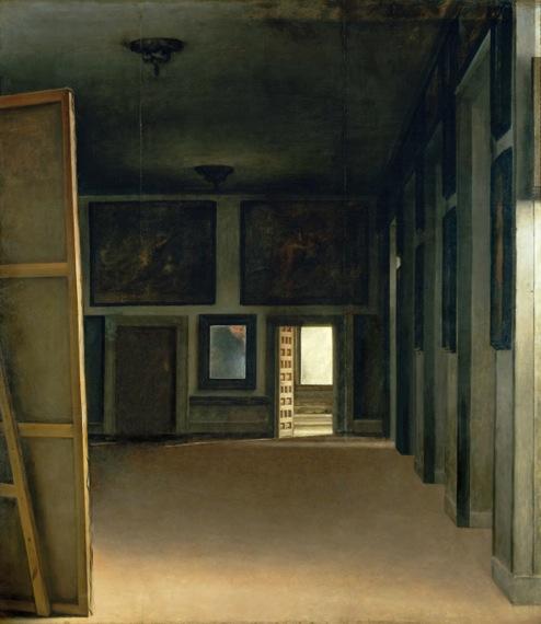 """'El cuarto del Principe', diez minutos antes de la reunión. (""""Palacio Real"""" de Jose Manuel Ballester, 2009 )"""