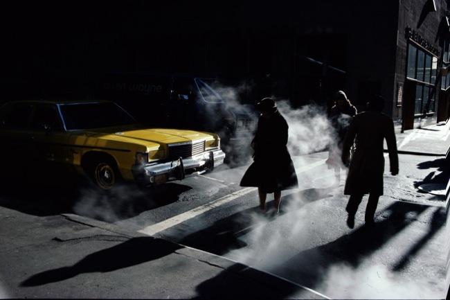 """""""…sus fotos se me quedaron grabadas para los restos….""""New York (1980) Ernst Haas."""