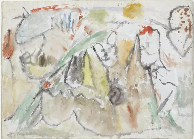 """""""…trabajando y 'lanzando' su arte en los cincuentas y sesentas pasados…"""" Great Meadows, 1951. MoMA, NY."""