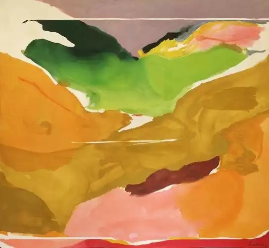 """""""…la entera superficie parezca hecha y 'nacida' al mismo tiempo."""" Nature Abhors a Vacuum, 1973. National Gallery of Art, Washington, D.C."""