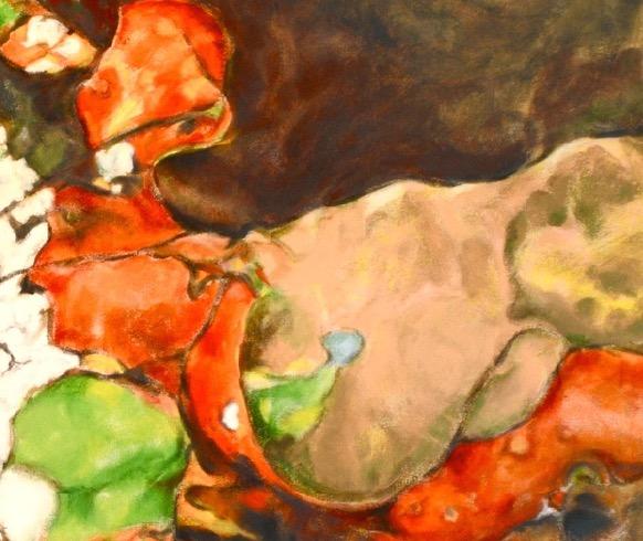 "Luis Jimenez-Ridruejo, Instar #10, acrylic on canvas, 48"" x 56"" (detalle)"