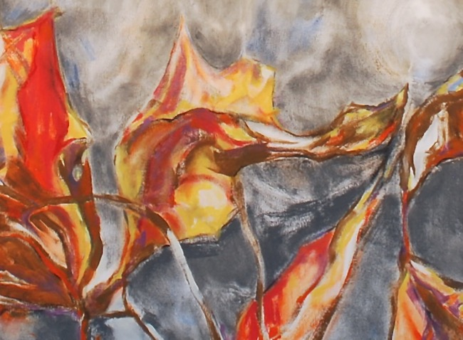 "Luis Jimenez-Ridruejo, Instar #4, acrylic on canvas, 75"" x 60"" (detalle)"
