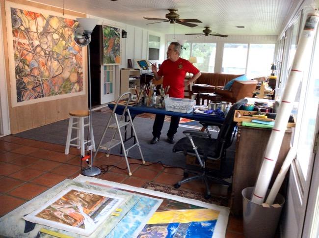 No es lo mismo estar colgado en el estudio que estarlo en las paredes de una galería (Luis Jimenez-Ridruejo con Instar #3)
