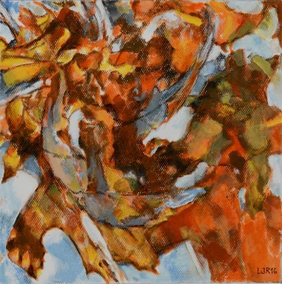 """""""Pintar de la naturaleza no es copiar el objeto; es realizar las propias sensaciones."""" Instar #12 Acrílico sobre papel, 8.75"""" x 8.75"""""""
