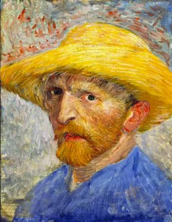 Autorretrato con sombrero de paja. 1889, Museo Van Gogh. Amsterdam