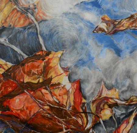 Detalle de Instar #4, acrylic on canvas; Luis Jiménez-Ridruejo