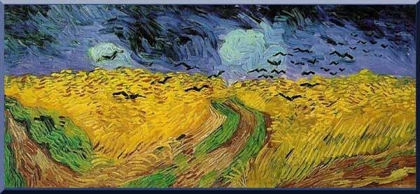 """… """"Campo de trigo y cuervos"""" Van Gogh (1890) El último cuadro que pintó el artista antes de morir…"""